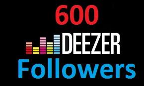 add 600 Deezer Follower to your Deezer