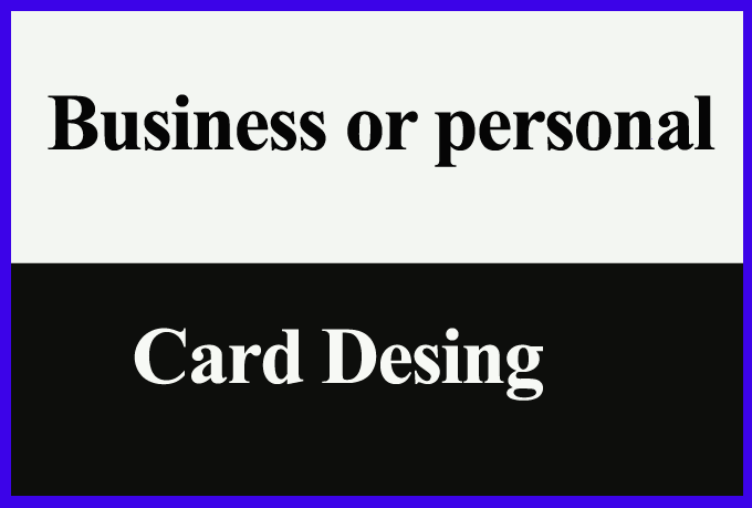 Business And Personal Card Desing