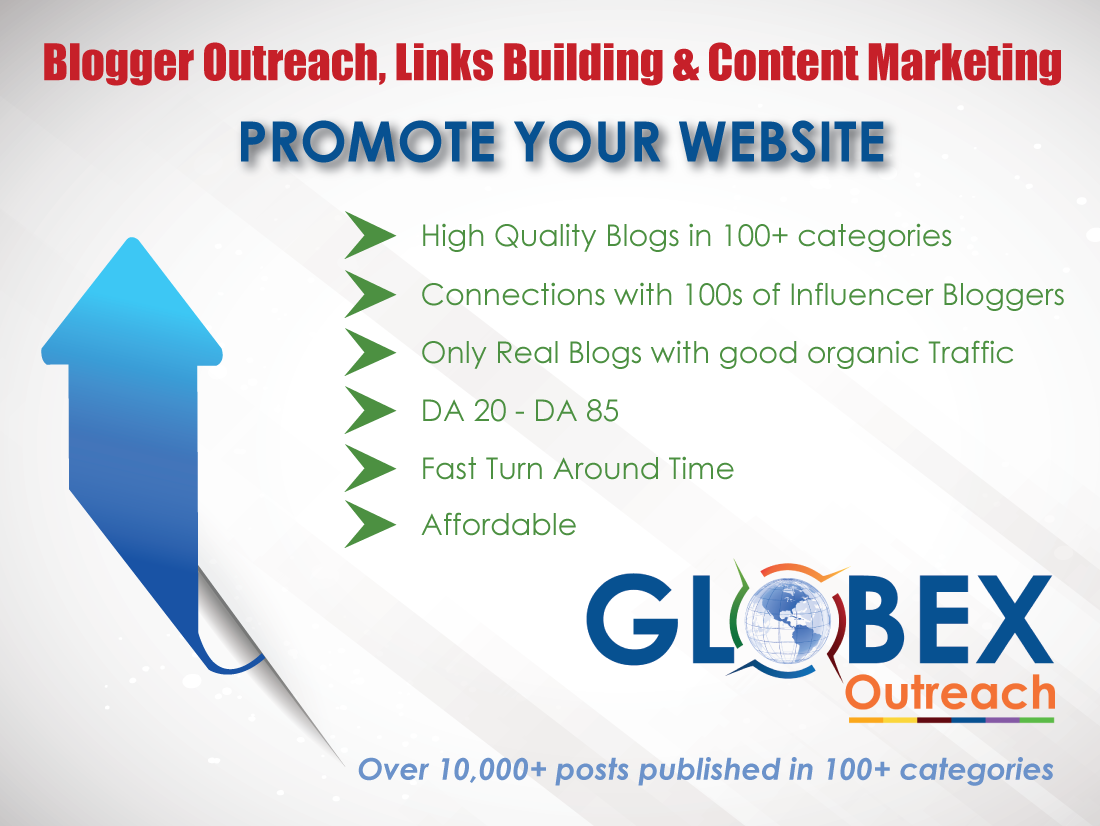 Outreach to Bloggers in Your niches and Get Links from High Quality Blogs
