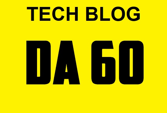 do guest post in DA 60 Technology Blog