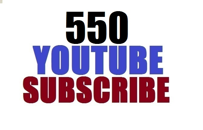 Limited offer 500 YouTube subscribe non drop lifetime gurenteed 12-24 hours in complete