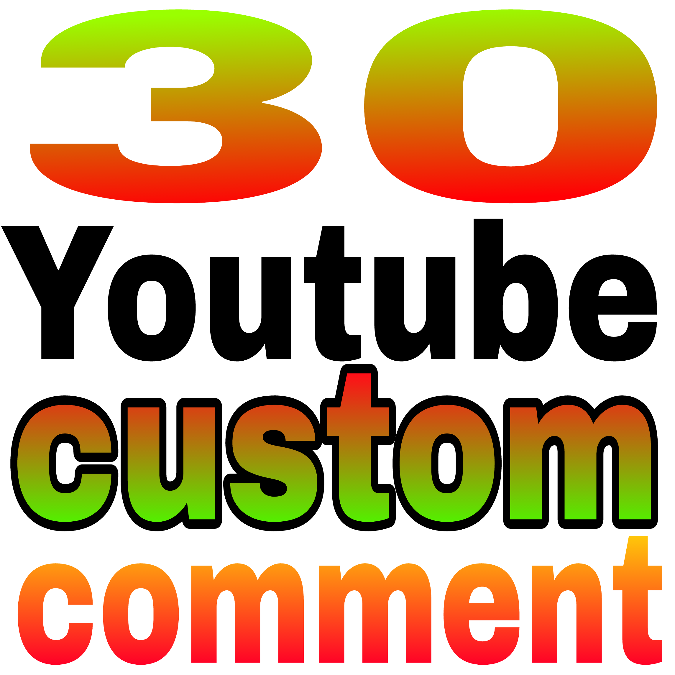 30+ YouTube custom comment human verified must be profile picture Non-drop very fast in 3-5 hours