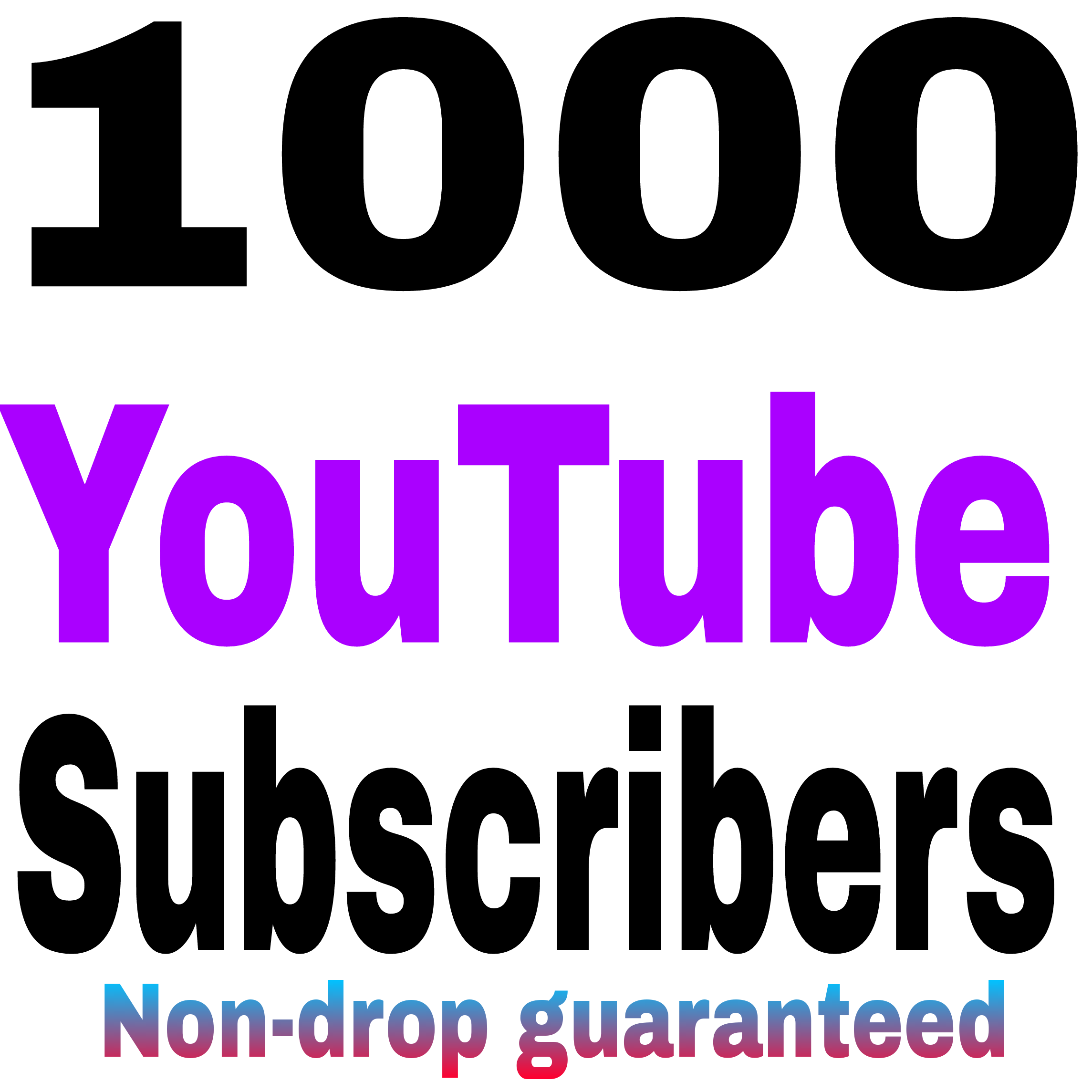 Real 1000 +Youtube subscribe Non drop Refill guaranteed VERY fast + 24-72hours DELIVERY