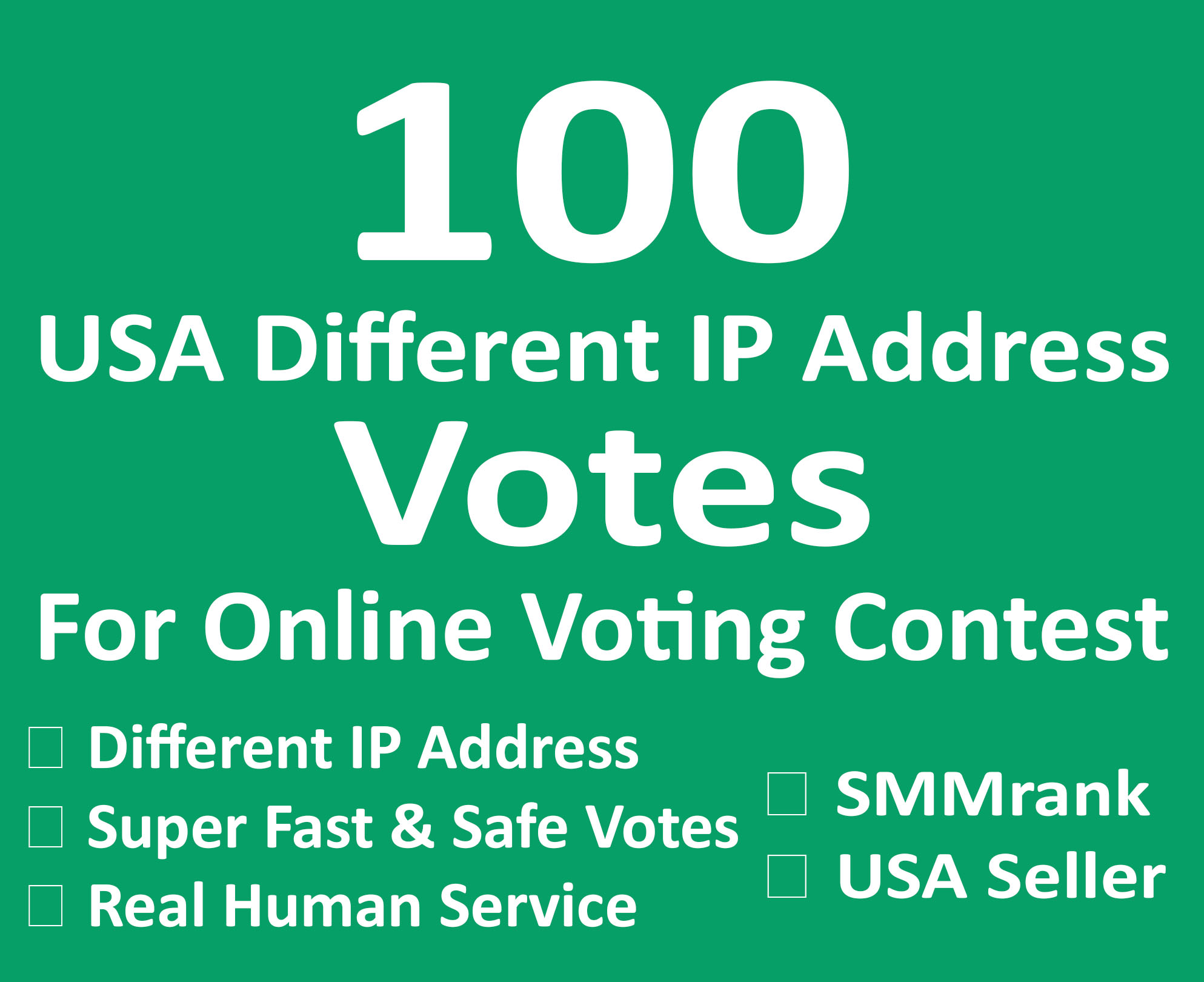 Instant 100+ USA Different IP Votes For Any Online Voting Contest