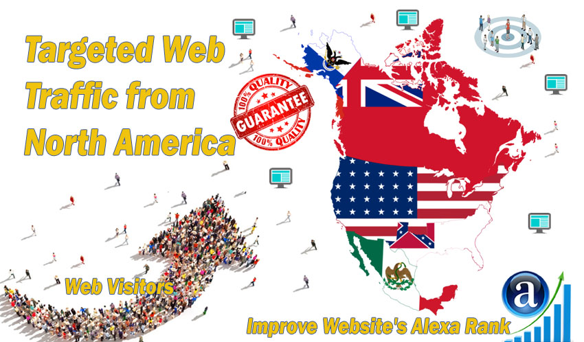 Send 25000 North America web visitors real targeted geo traffic