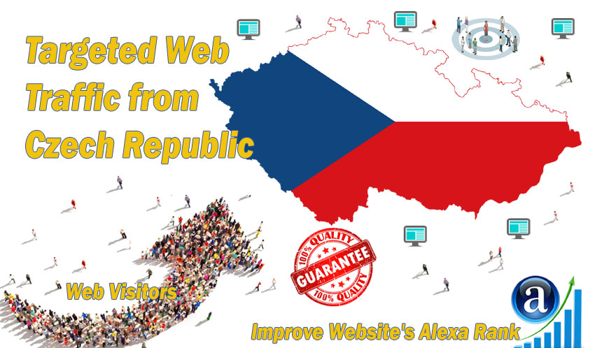 Send 25.000 Czech Republic web visitors real targeted geo traffic
