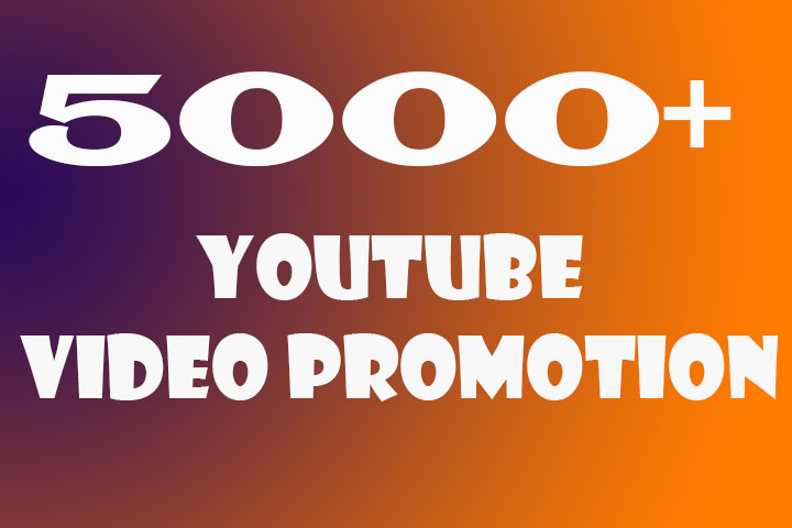 Organic YouTube Video Promotion & Marketing In 5-6H