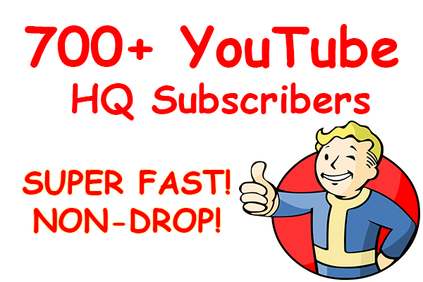 Special Offer-Real & Active 700+ YouTube Subs Cribers Non Drop- Cheapest Rate