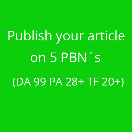 5 PNB Articles on my private network Blog DA 99 PA 28+ TF 20+