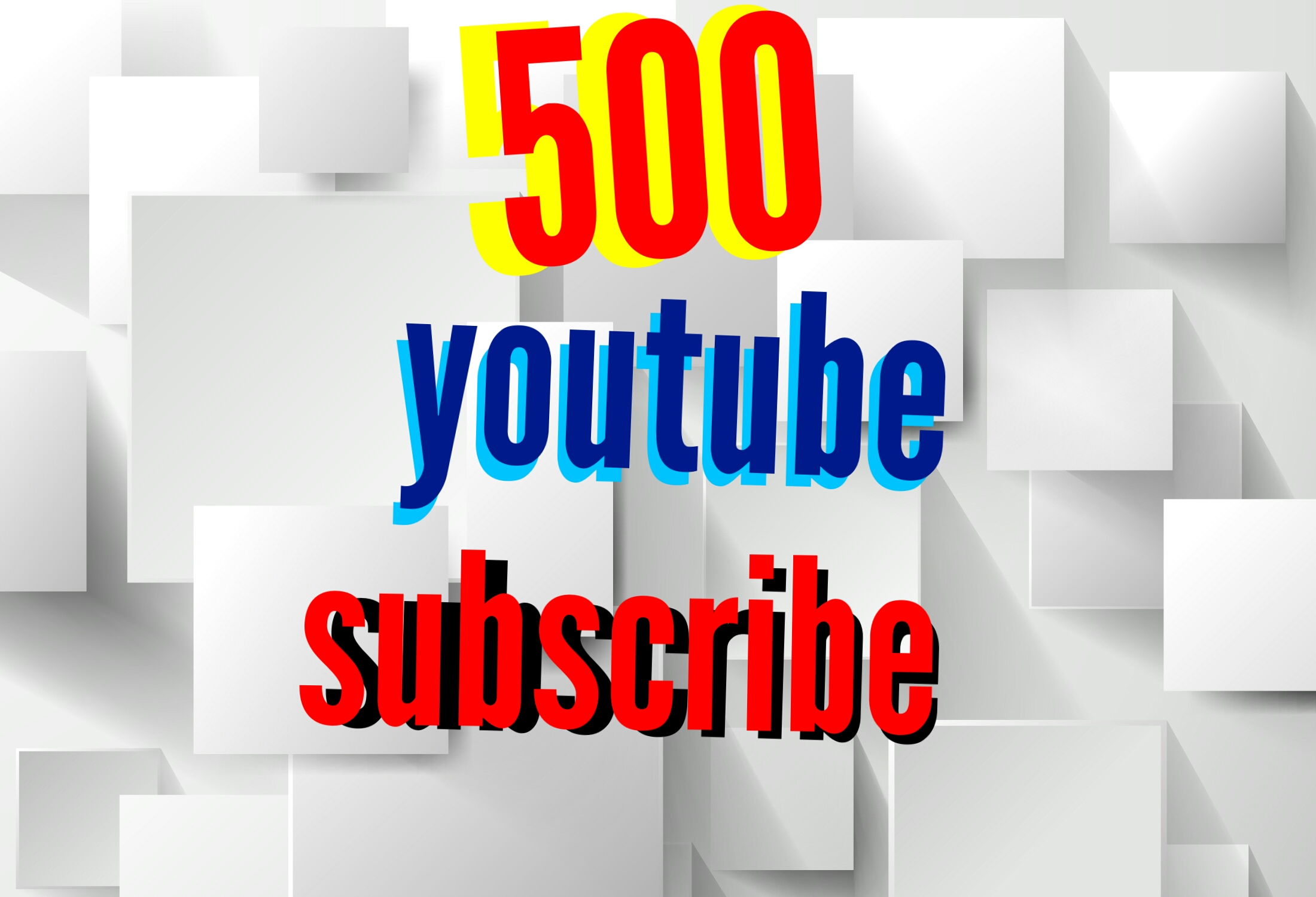 500 youtube subscribers or 1000 youtube likes or 101 youtube comments