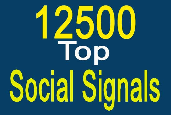 12500 best and qualityful website mixed social signals