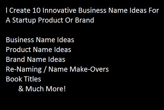 Create 10 Innovative Business Names