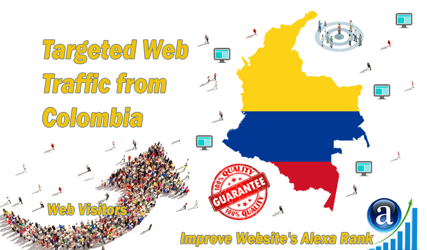 Colombian web visitors real targeted Organic web traffic from Colombia
