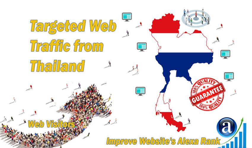 Thai web visitors real targeted Organic web traffic from Thailand