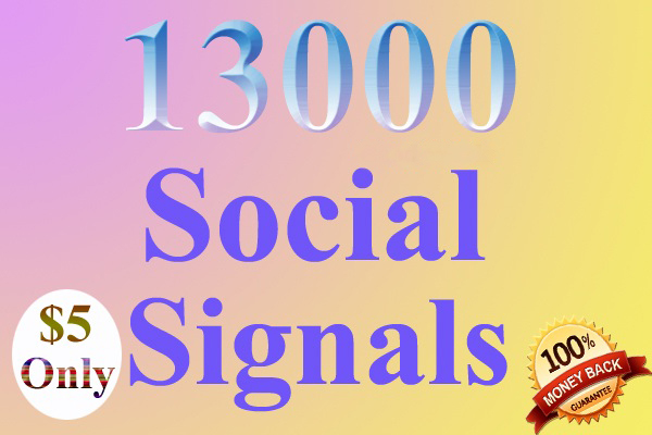 13000 drip feed Website Mixed social signals in 15 days