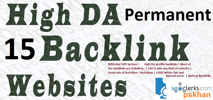 Build 15 High Da Permanent Backlink