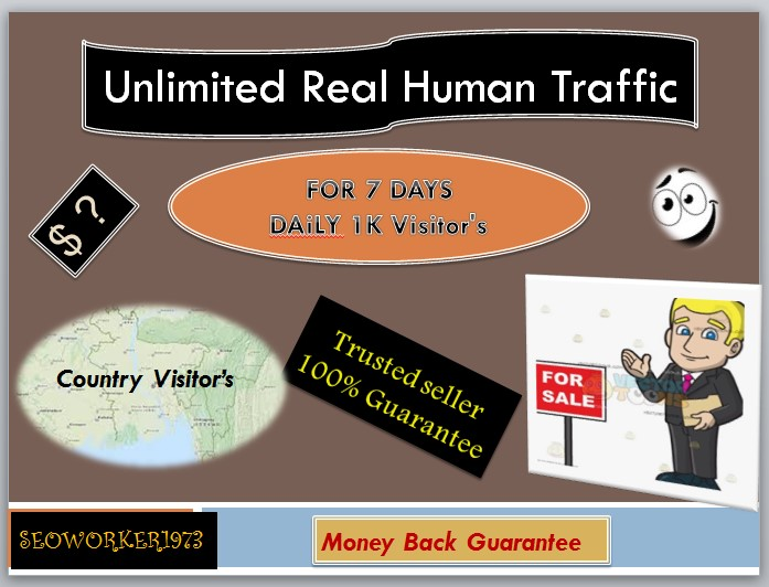 Daily 1k Real Human Traffic on your website