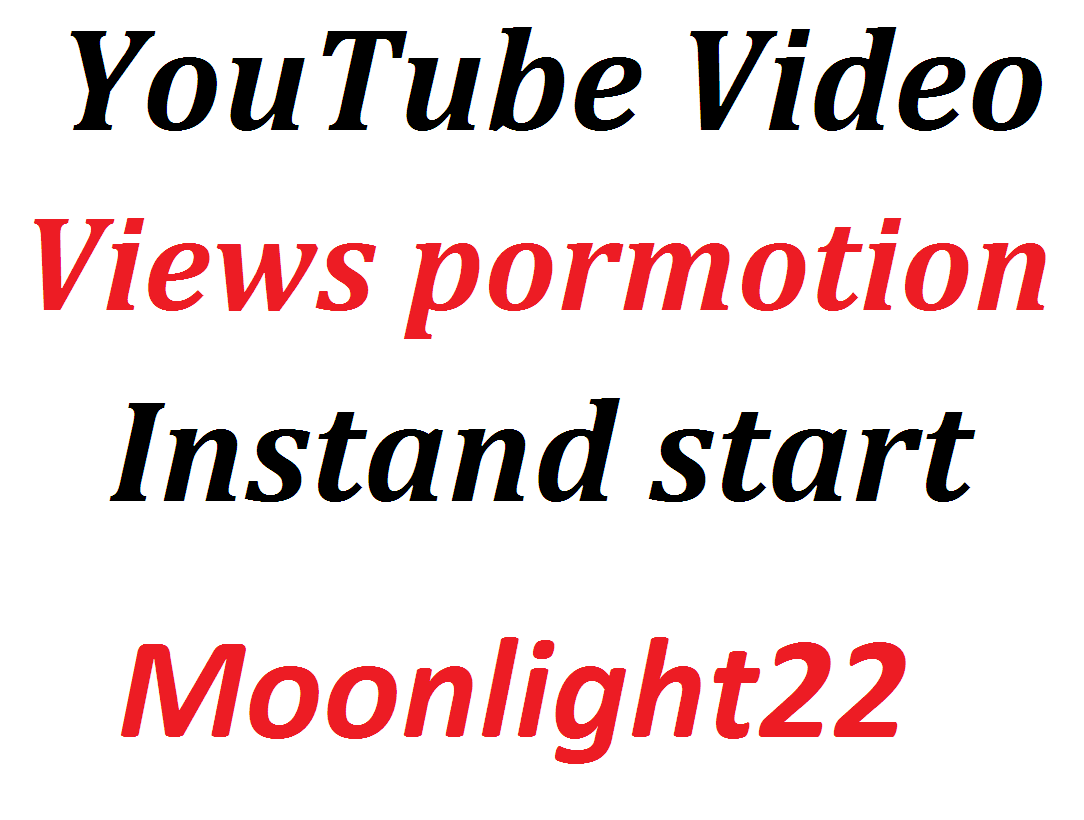 super offer Instant Start YouTube Video Promotion Social Media Marketing Non Drop Just