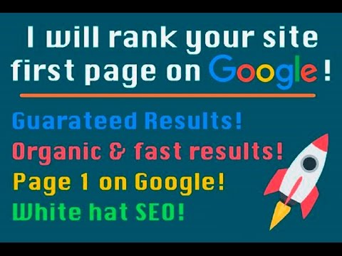 Search engine optimization Rank Your Website Guarantee First Page Of Google Fast
