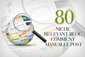Make 80 Niche Relevant Blog Comments