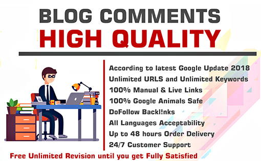 Do 120 blogcomments backlinks high da pa sites