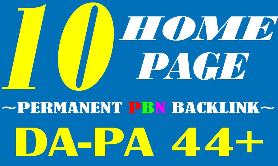 Create Manually 10 HOMEPAGE High Quality DA-PA 44+ PBN SEO Backlink