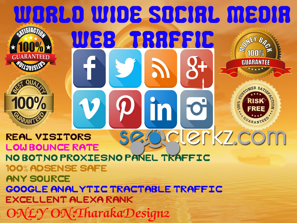 33000 SOCIAL or KEYWORD TARGETED traffic for 30 days to $5
