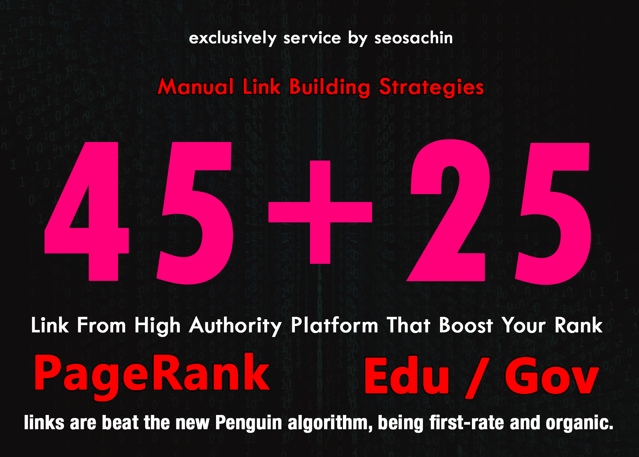 Skyrocket Your Google Rankings With 45 PR9 + 25 EDU GOV Permanent Backlinks From High Authority Domain