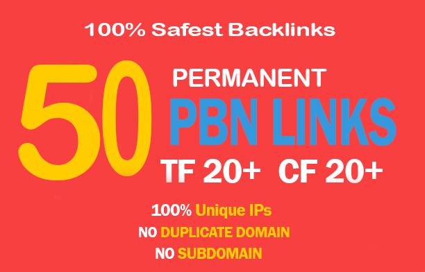 Unique 50 High TF CF DA PA 35+ Homepage PBN Backlinks to Rank High in Google