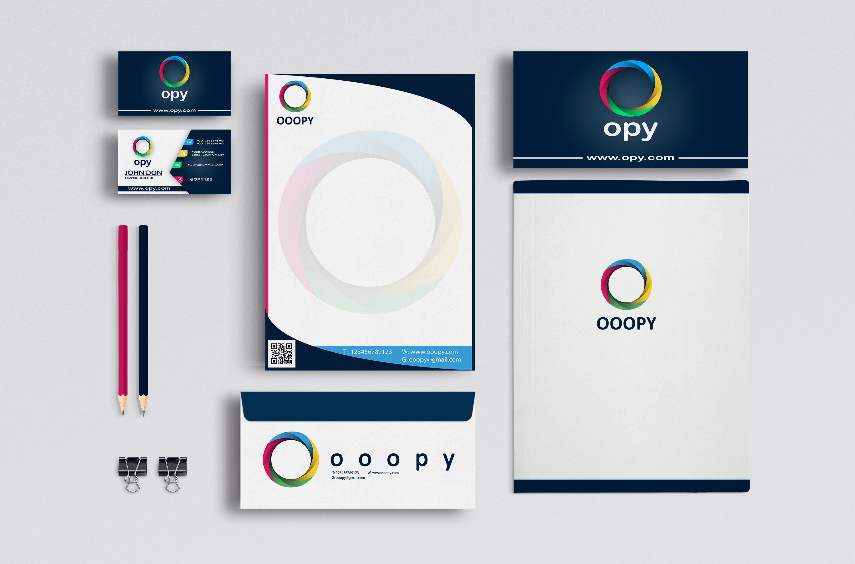 Design logo+business card+letterhead+source editable files and print ready!