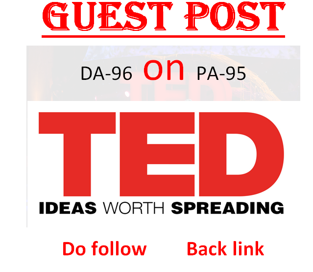 I can publish article with 2 dofollow backlink on TED.com DA96