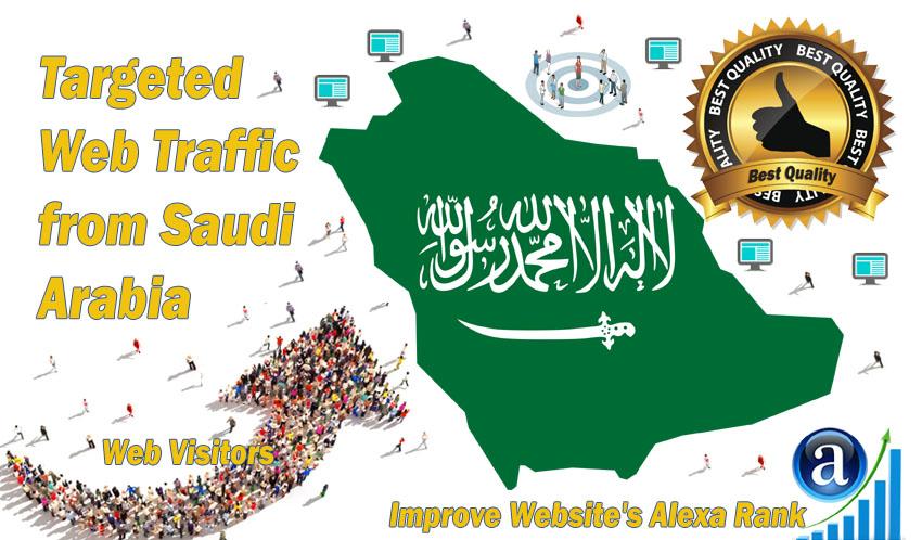 Saudi Arabia web visitors Real targeted High Quality web traffic