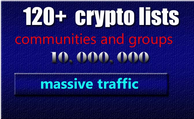 30 crypto largest groups and communities lists for ma...