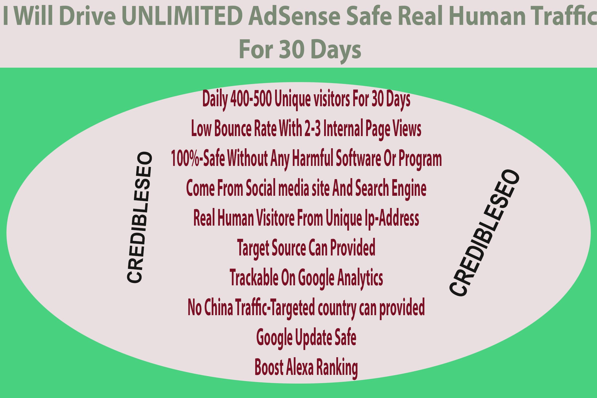 Drive UNLIMITED AdSense Safe Real Human Traffic For 3...