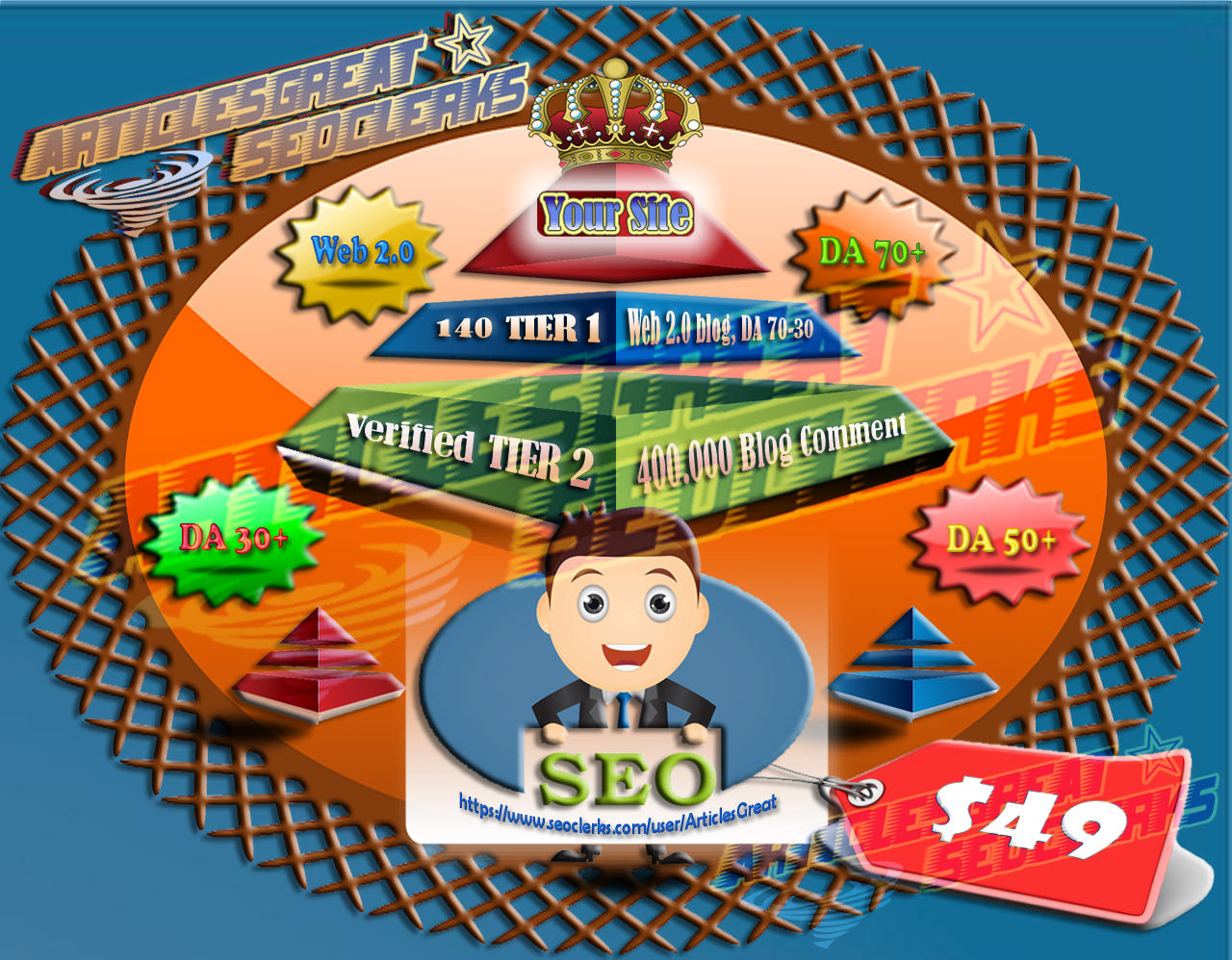 200 Backlink PBN DA 70, PA 30 + Web 2.0 Blog with Login Account