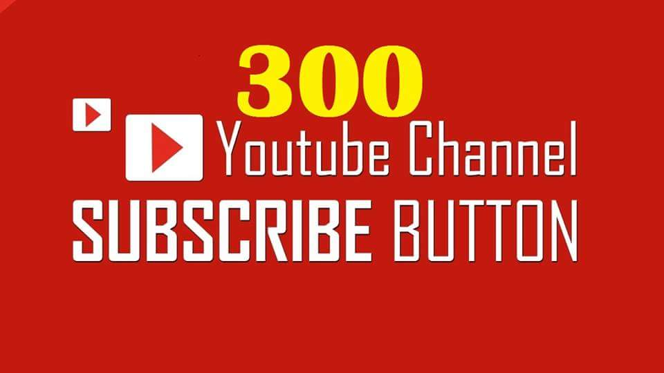 Likited offer  300 youtube subscribe  non drop very fast delivery