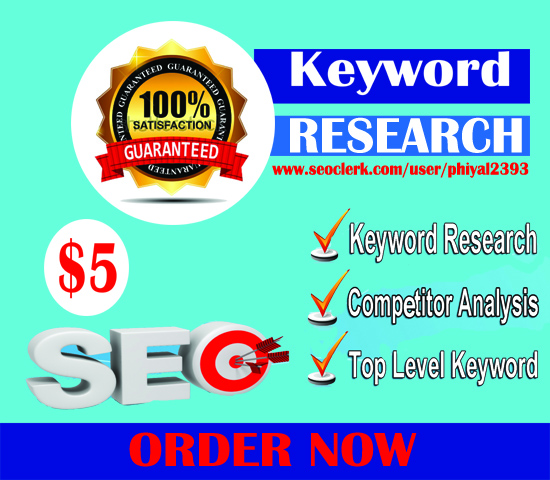 25 SEO Quality keyword Research only 5
