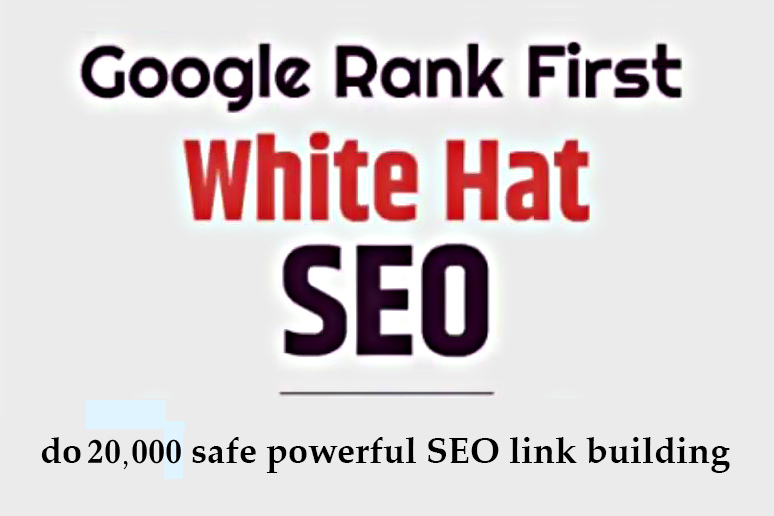 I will do 20000 safe powerful SEO link building