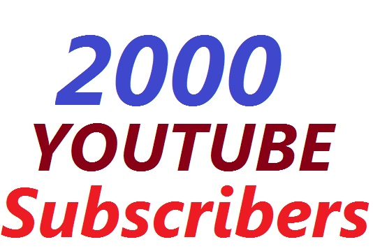 2000 youtube subscribers Non drop instate state for