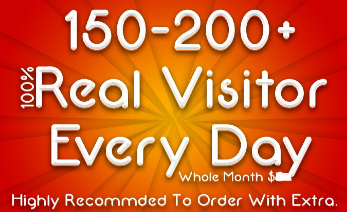 Bring Real Visitors, Targeted Web Traffic for 30 day...
