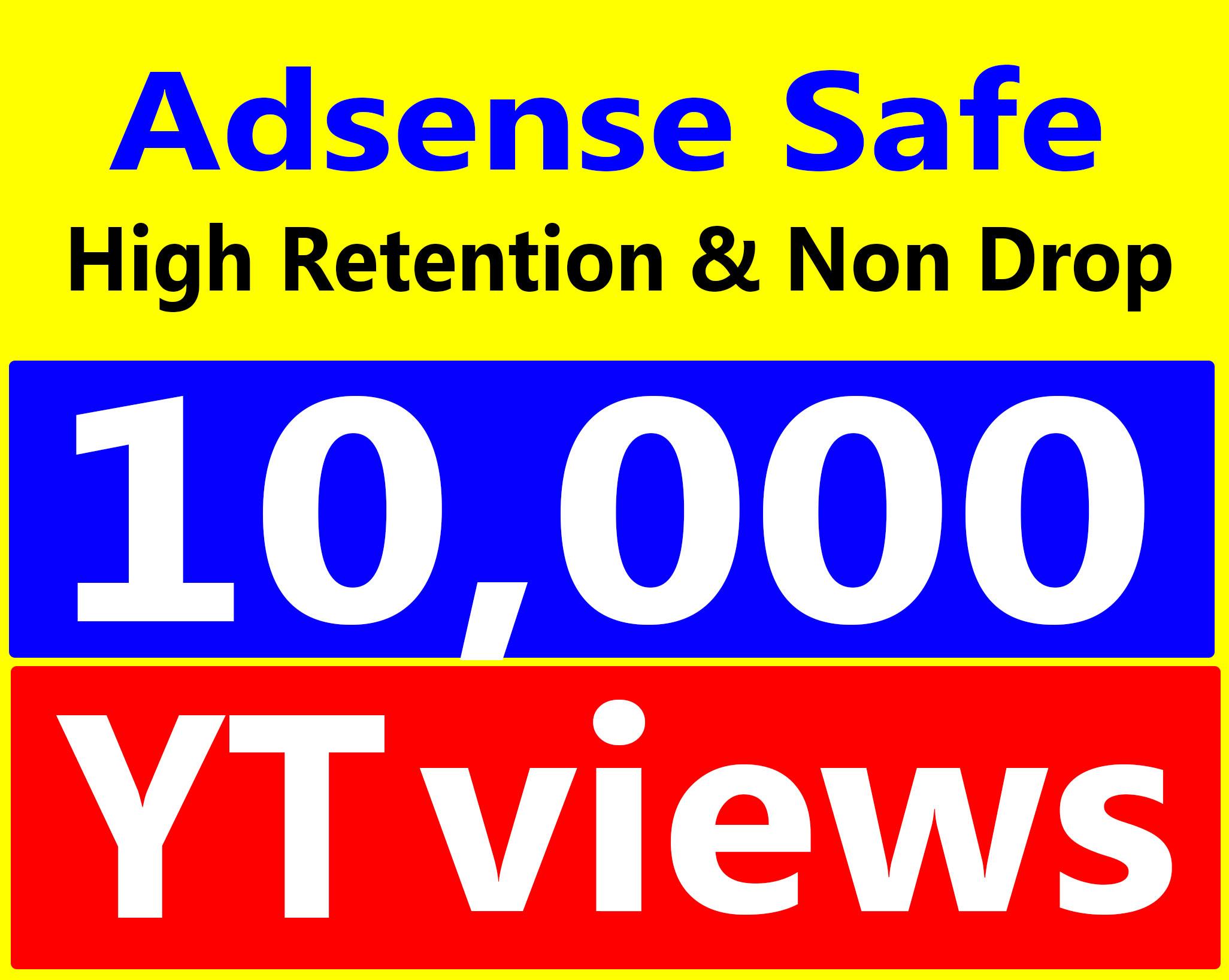 Fast 10,000+ Vi-ews High Retentions 90-99% Ad-sense Safe, Non Drop Service