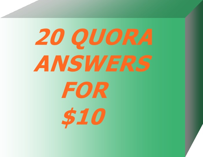 Guaranteed 20 High Quality Quora Answers And Promote Your In First Page