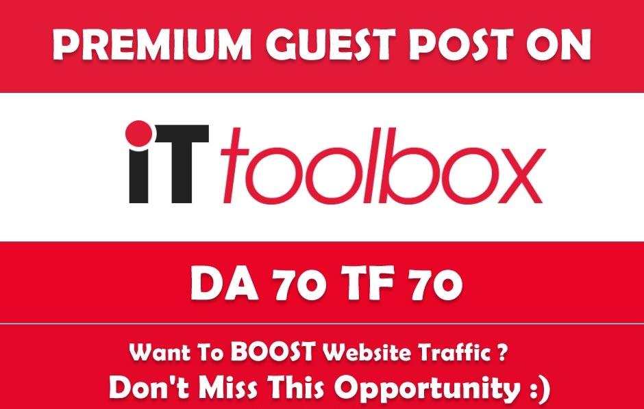Write & Publish Guest Post on it. toolbox. com - DA70,  TF70