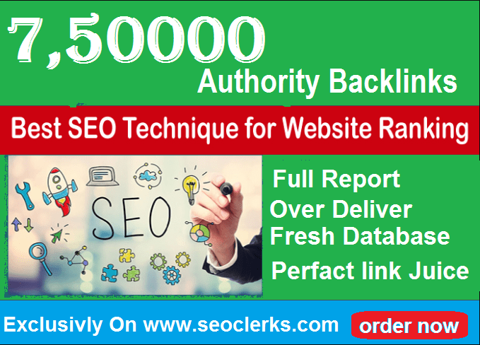 750,000 Gsa, High Quality Authority Backlinks For SE...