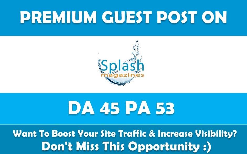 Write & Publish Premium Guest Post on Lasplash. com Dofollow