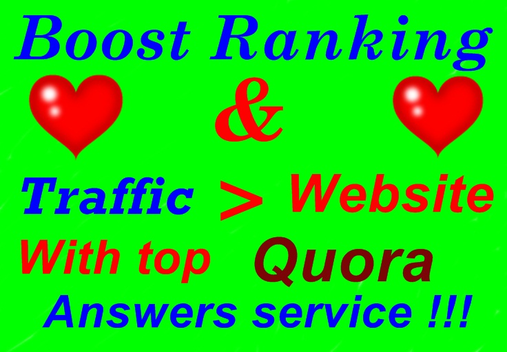 Provide your website/businesses related 20 Quora Answer with clickable Backlinks and target traffic