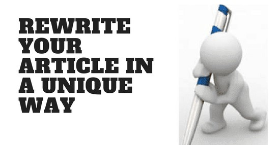 Rewrite your article in a Unique way with no word limit