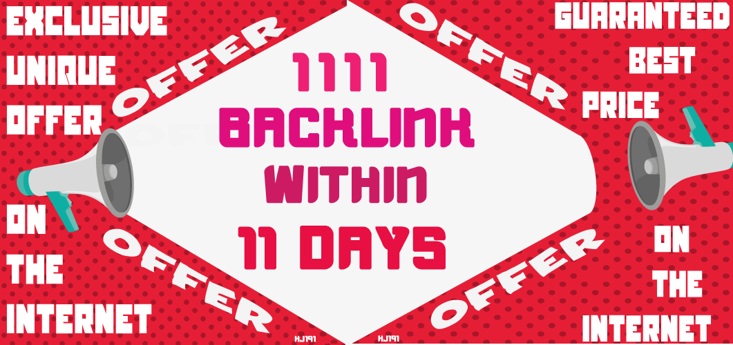 1111 Backlink With Organic Search Traffic,  Article Submission,  Ping,  Indexer
