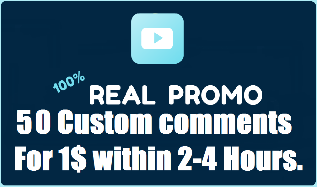 Instant Start 50 Real Custom Comments Complete within 2-4 Hours