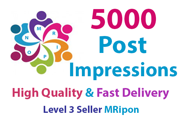 Get Instant 5000 High Quality Photo Post Impressions